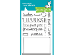 Lawn Fawn A Good Apple Cling Stamp Set