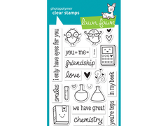 Lawn Fawn Science of Love Cling Stamp Set