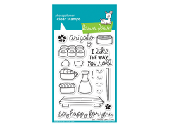 Lawn Fawn Lets Roll Cling Stamp Set