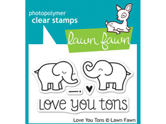 Lawn Fawn Love you Tons Cling Stamp