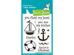 Lawn Fawn Float My Boat Cling Stamp Set