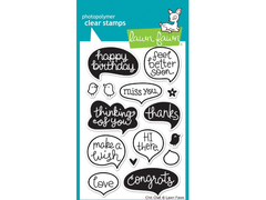 Lawn Fawn Chit Chat Cling Stamp Set