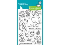 Lawn Fawn Critters in the Jungle Cling Stamp Set