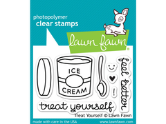 Lawn Fawn Treat Yourself Cling Stamp