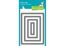 Lawn Fawn Large Stitched 4 Bar Rectangles Dies