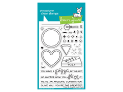 Lawn Fawn Pizza My Heart Cling Stamp