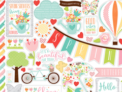 Echo Park Spring Collection 12 x 12 Sticker Sheet