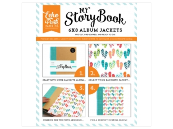 Echo Park Summer Party My Story Book 6 x 8 Album Jackets