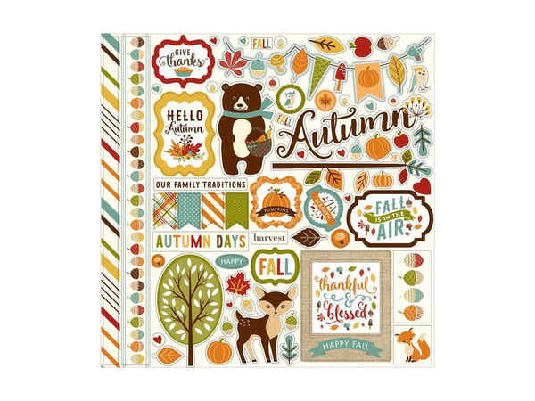 Echo Park Fall is in the Air 12 x 12 Element Sticker Sheet