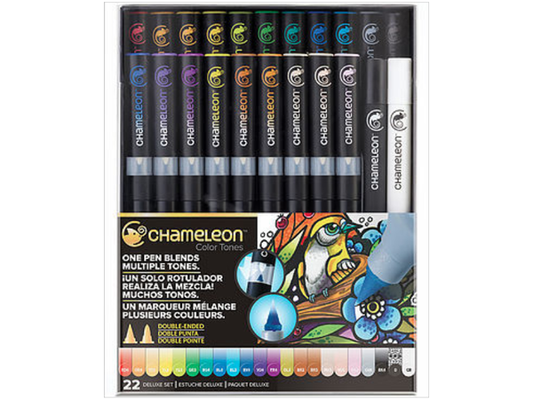 THE CHAMELEON COLOR TONES 22 PEN DELUXE SET