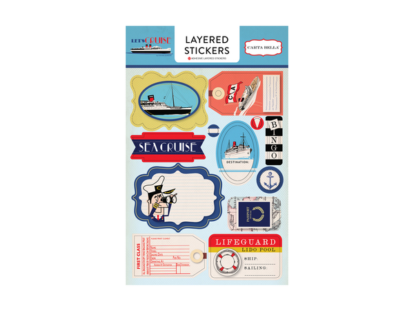 Carta Bella Let's Cruise Collection Layered Stickers
