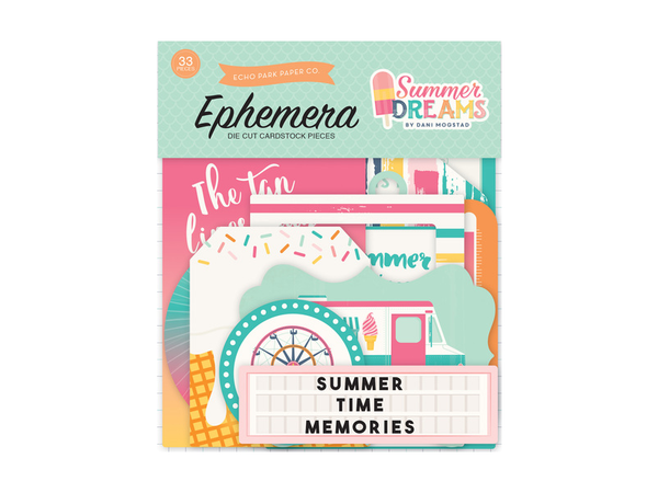 Echo Park Summer Dreams Collection Ephemera Pack