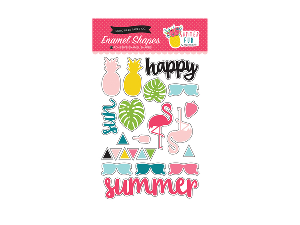Echo Park Summer Fun Collection  Enamel Shapes