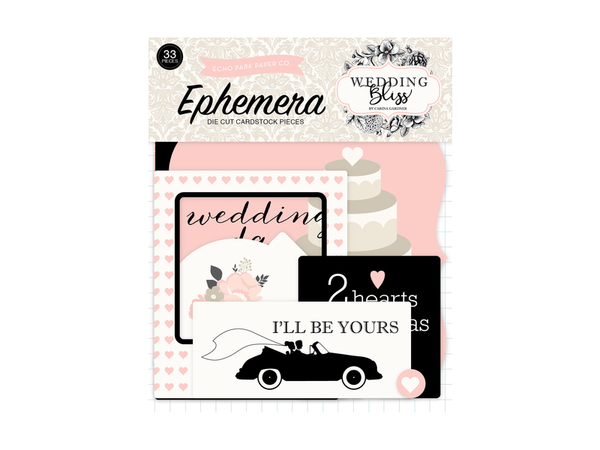 Echo Park Wedding Bliss Collection Ephemera