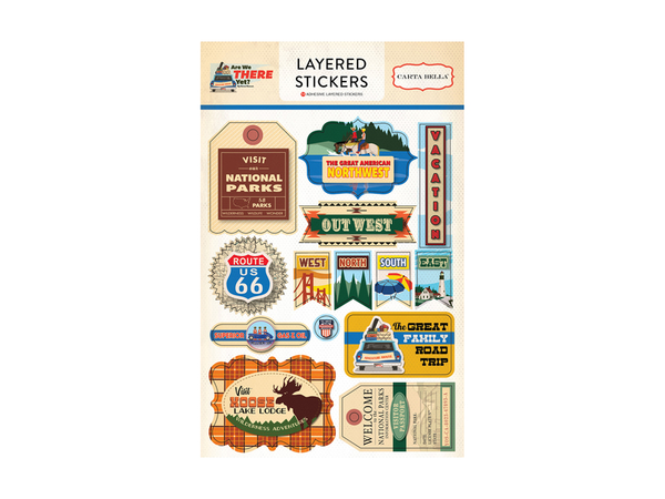 Carta Bella Are We There Yet? Collection Layered Stickers