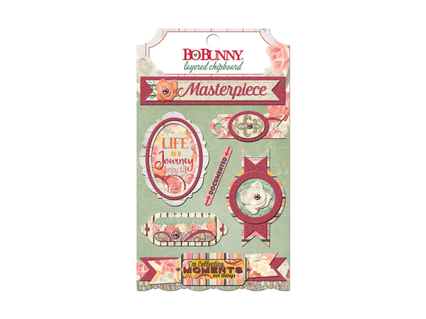 Bo Bunny Aryla's Garden Collection Layered Stickers