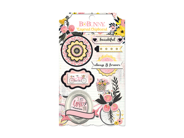 Bo Bunny Petal Lane Collection Layered Stickers