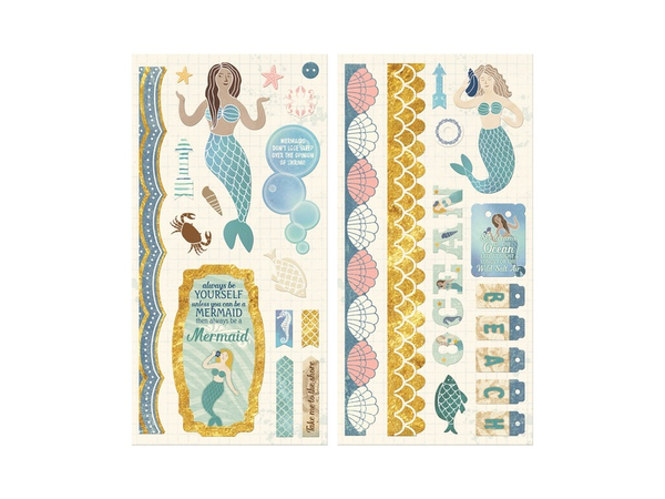 Bo Bunny Down by the Sea Collection Chipboard Stickers