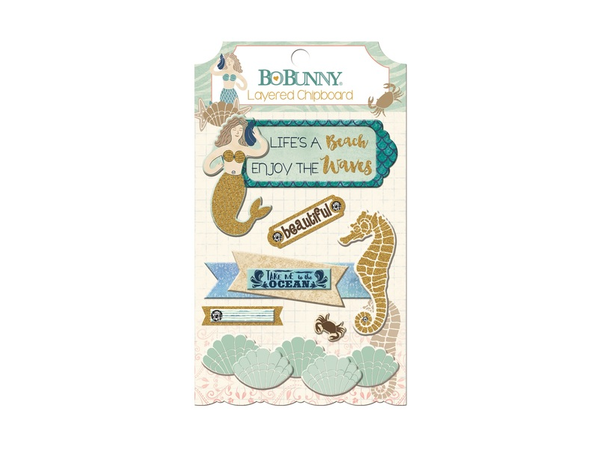 Bo Bunny Down By the Sea Collection Layered Stickers