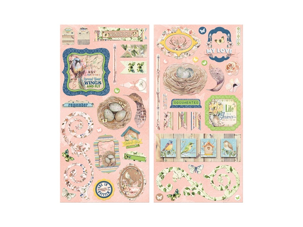 Bo Bunny Serendipity Collection Chipboard Stickers
