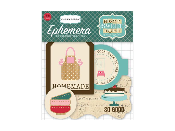 Carta Bella Home Sweet Home Collection Ephemera Pack