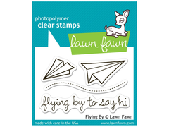 Lawn Fawn Flying By Cling Stamp Set
