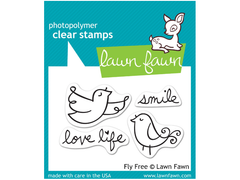 Lawn Fawn Fly Free Cling Stamp Set