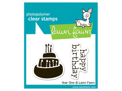 Lawn Fawn Year One Cling Stamp