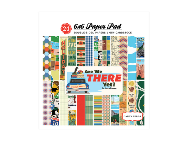Carta Bella Are We There Yet? Collection 6 x 6 Paper Pad