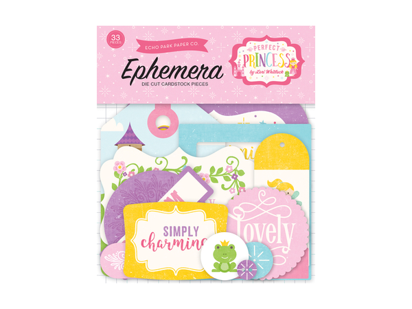 Echo Park Perfect Princess Ephemera and Frames anf Tags