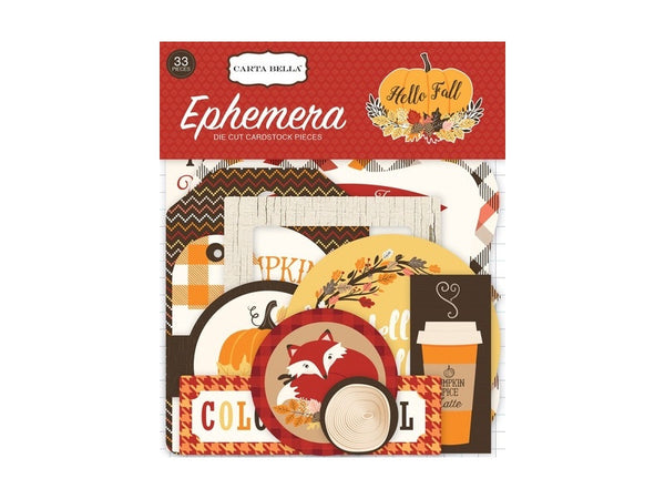 Carta Bella Hello Fall Collection Ephemera Package