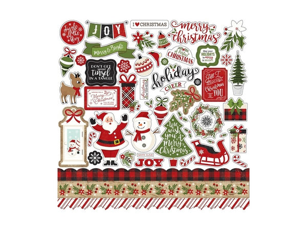 Echo Park A Perfect Christmas Collection 12 x 12 Element Sticker Sheet