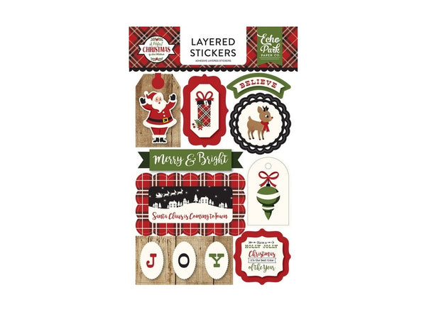 Echo Park A Perfect Christmas Layered Stickers