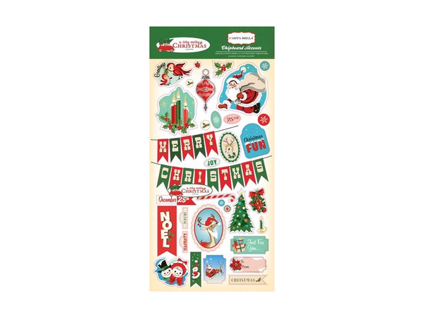 Carta Bella A Very Merry Christmas Chipboard Stickers