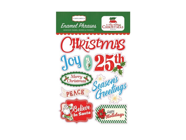 Carta Bella A Very Merry Christmas Collection Enamel Words and Phrases
