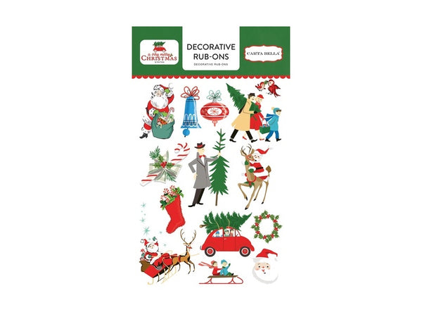 Carta Bella A Very Merry Christmas Collection Rub-ons