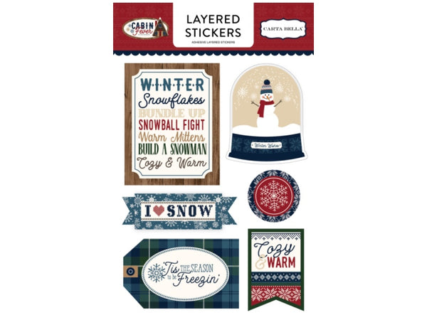 Carta Bella Cabin Fever Collection Layered Stickers