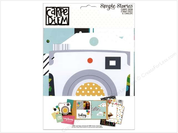 Simple Stories Carpe Diem Collection Snap Pages and Envelope