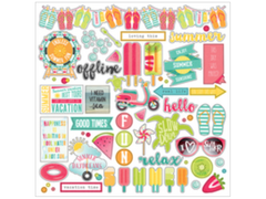 Photo Play Summer Day Dreams Element  12 x 12 Sticker Sheet
