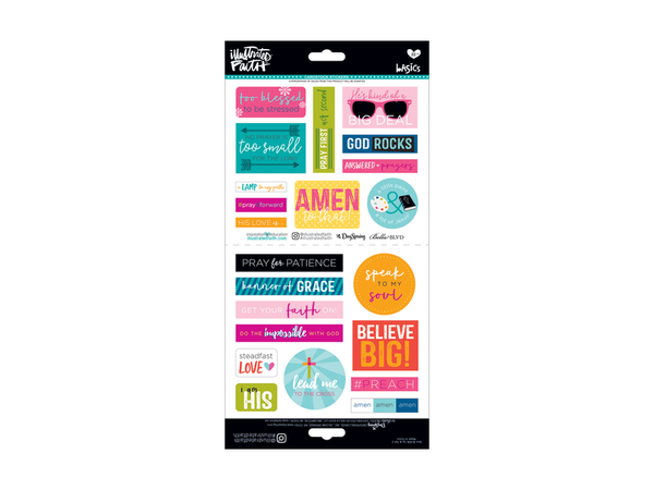 Bella Blvd Illustrated Faith Basic Collection Element Stickers