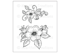 Heartfelt Creations Tattered Blossom Swirls Cling Stamp