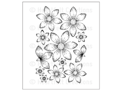 Heartfelt Creations Sun Kissed Fleur  Cling Stamp