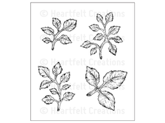Heartfelt Creations Open Leaf Cling Stamp