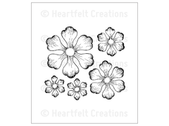Heartfelt Creations Arianna Blooms Cling Stamp