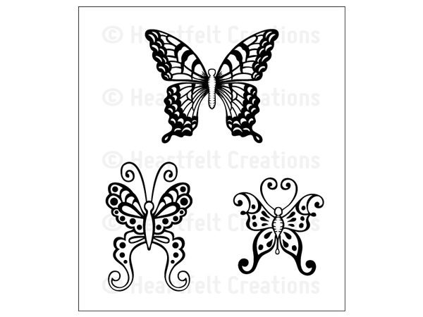 Heartfelt Creations Butterfly Medley Cling Stamp