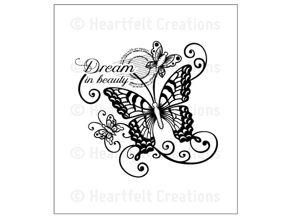 Heartfelt Creations Dream in Beauty Cling Stamp