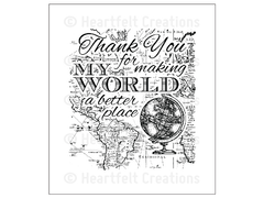 Heartfelt Creations My World Cling Stamp