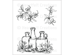 Heartfelt Creations Jars and Accents Cling Stamp