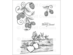 Heartfelt Creations Berries and Peaches Cling Stamp