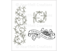 Heartfelt Creations Enchanted Dragonflies Cling Stamp